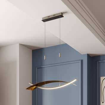 LED hanglamp Marija, horizontale kap zwart