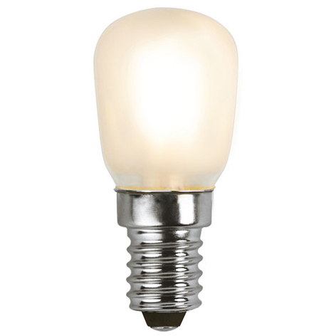 LED lamp E14 T26 1,3W, warmwit, frosted