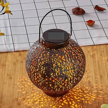 Lanterne solaire LED Dunjaris, ornements, cuivre