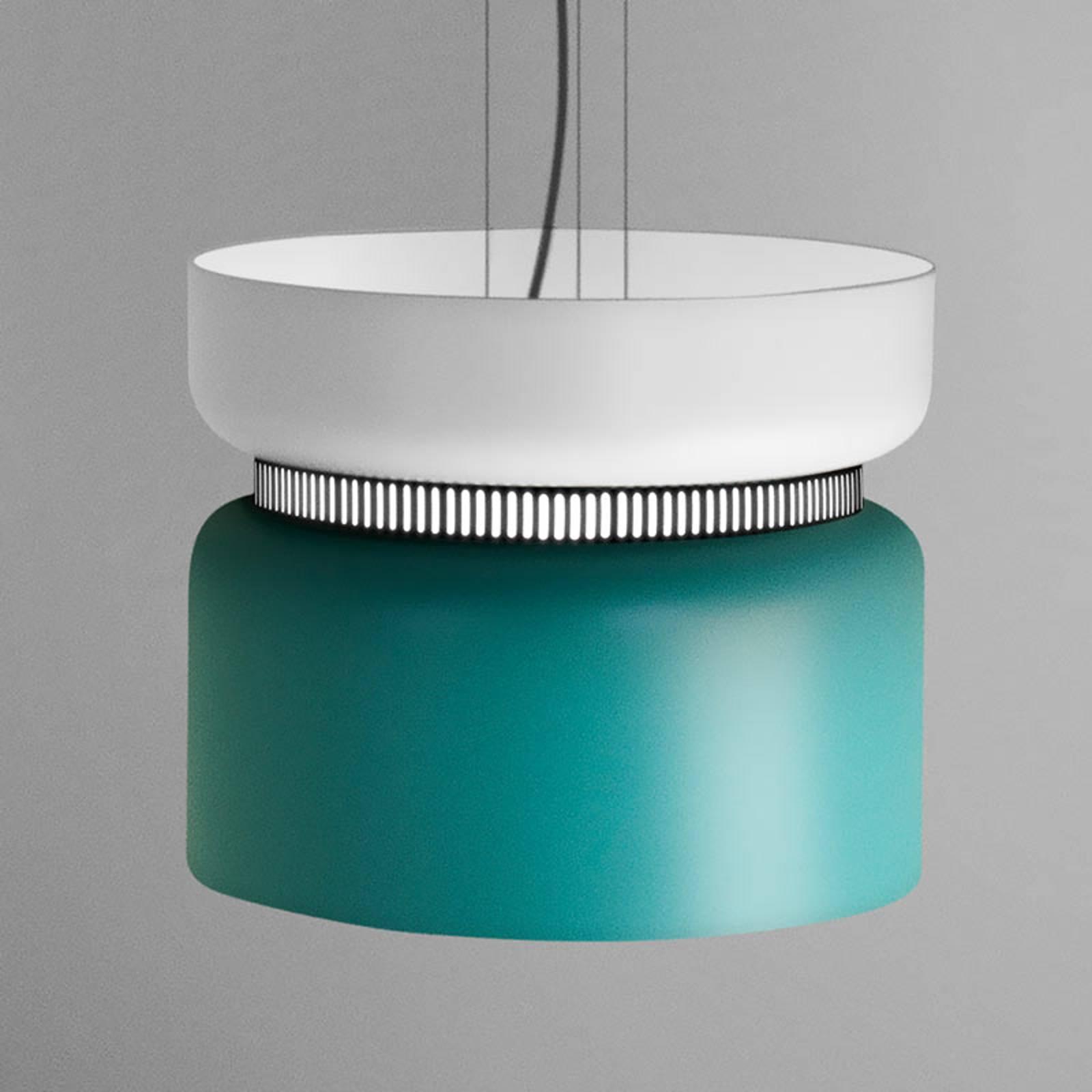 LED-Pendelleuchte Aspen S weiß-türkis 40 cm