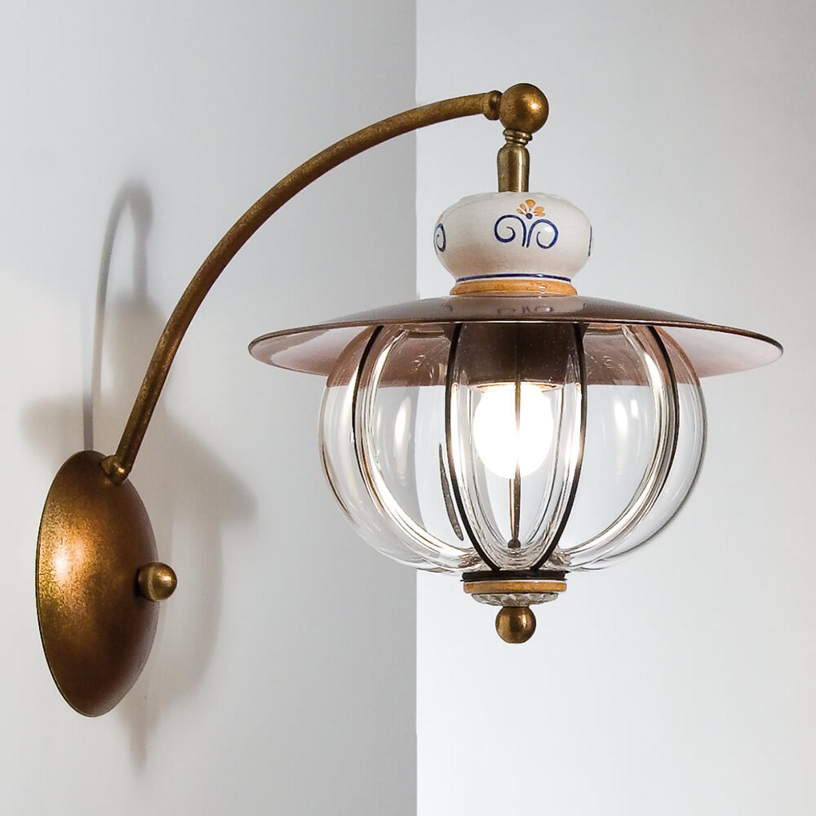 Uitnodigende wandlamp Lampara - hangemaakt