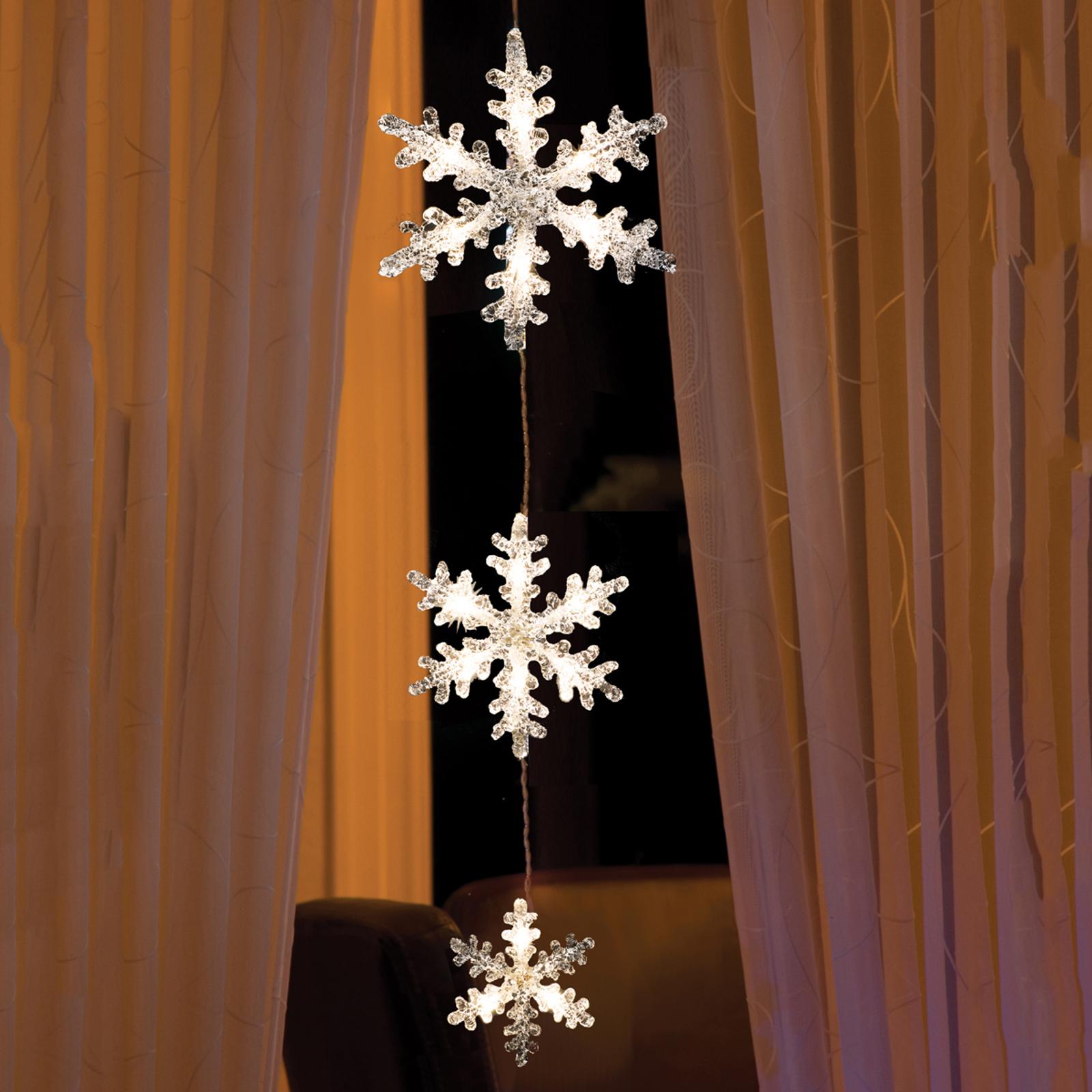 LED-ljusslinga Snöflingor