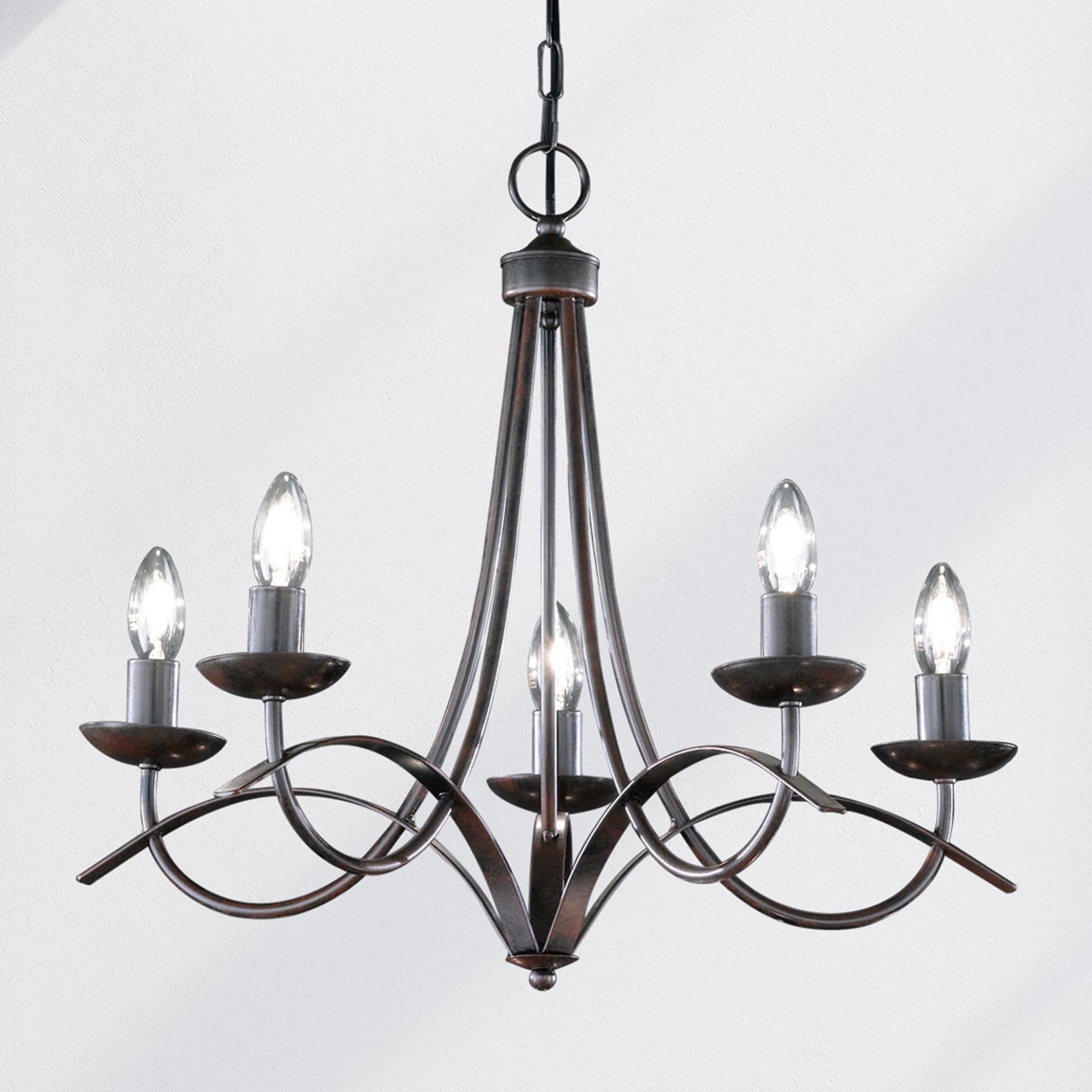 Kroonluchter Hannes, antiek, 5-lamps