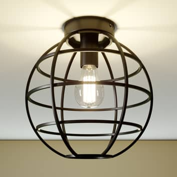 Lámpara de techo de jaula Bekira en negro