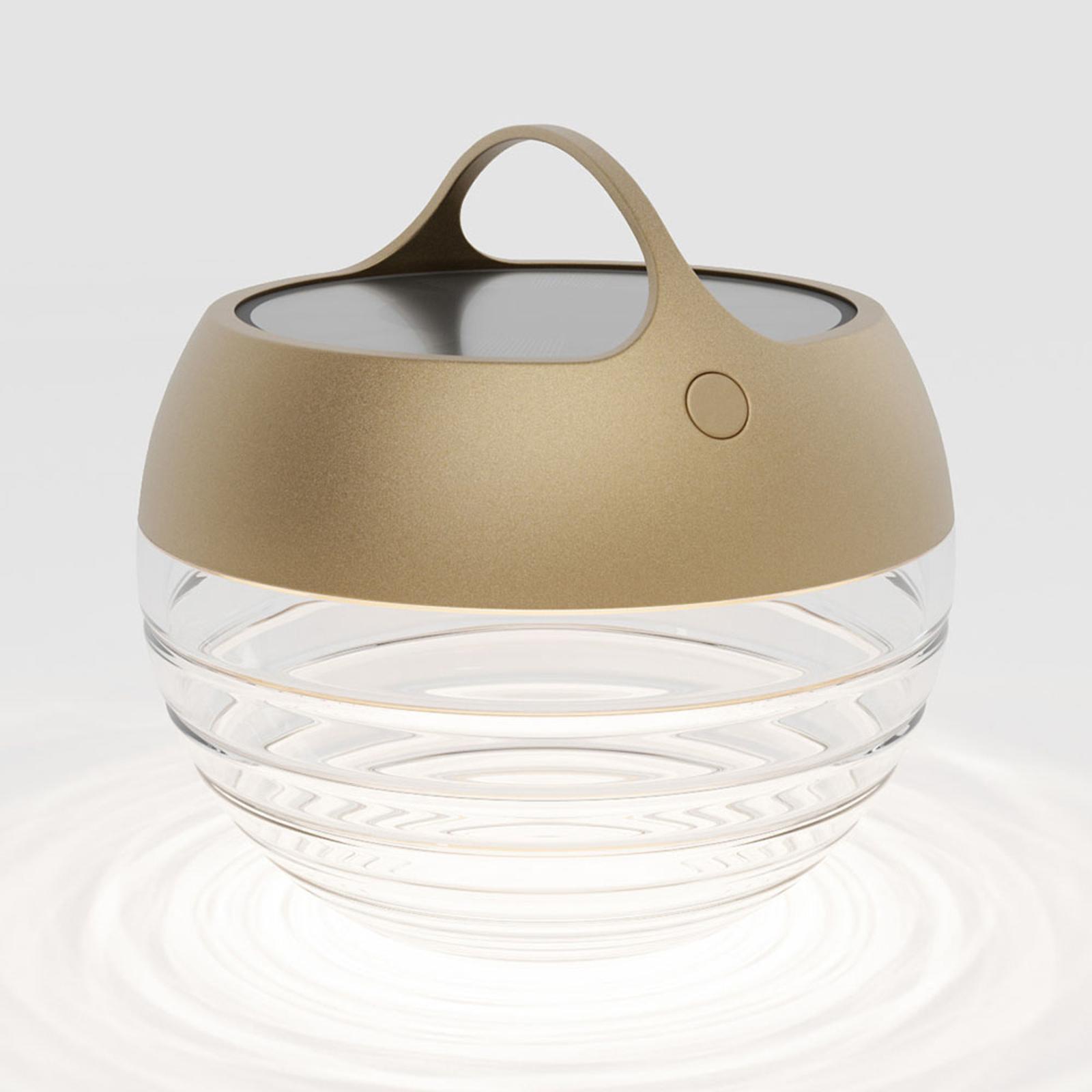 IP44.de aqu S lampa solarna LED, 23 cm złota