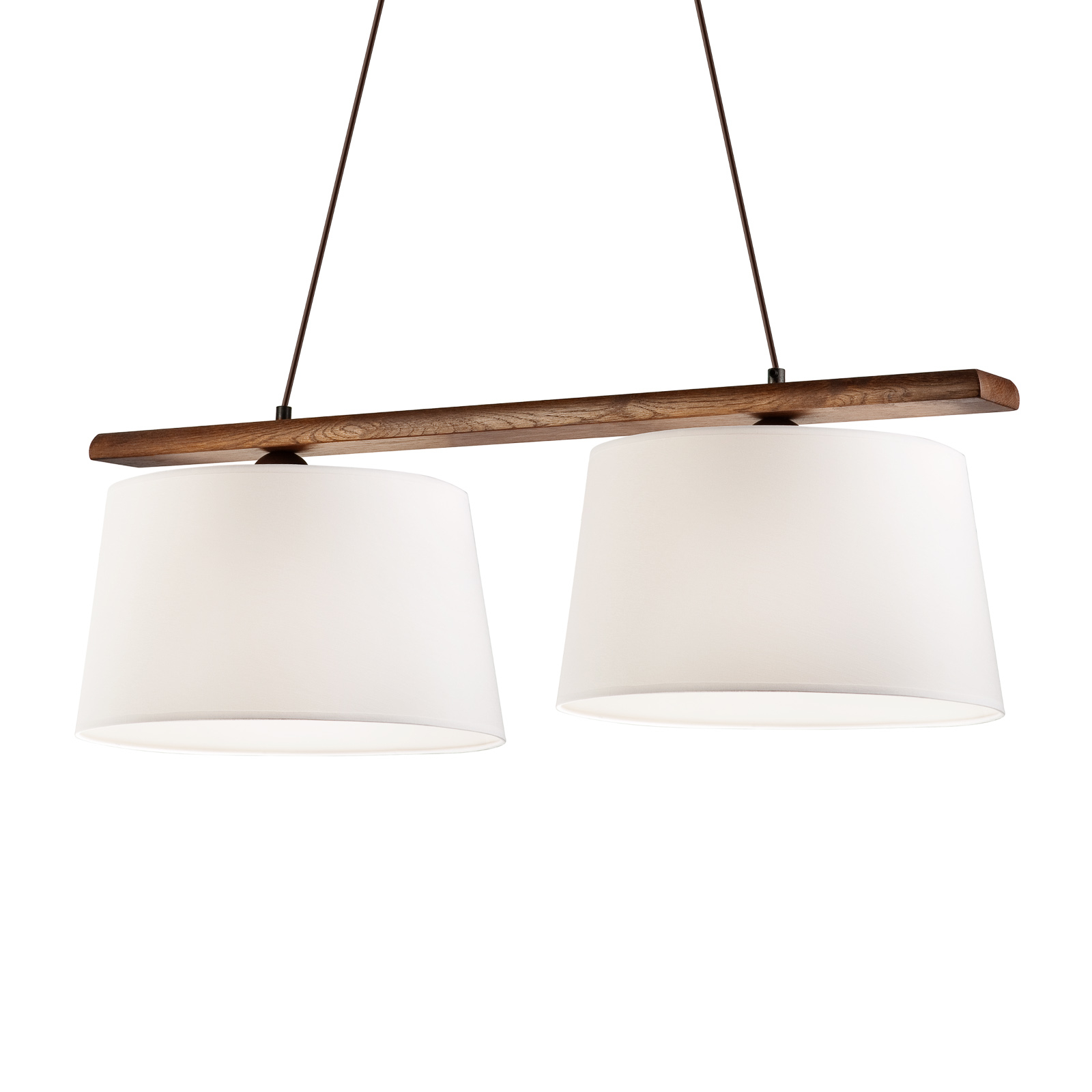 Hanglamp Sweden, 2-lamps, noten eiken