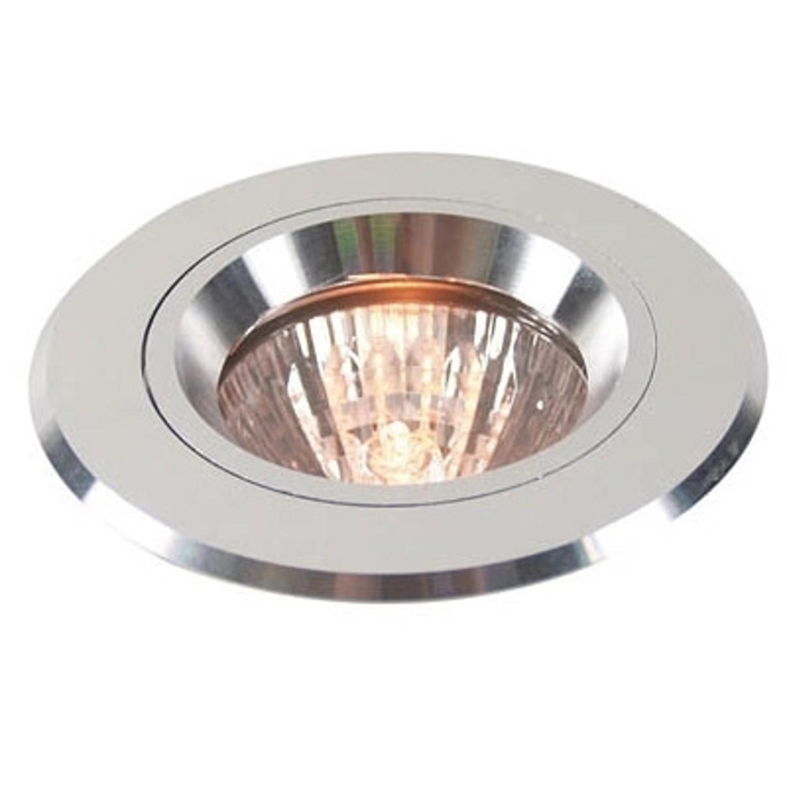 Srebrny pierścień wpuszczany z aluminium stały