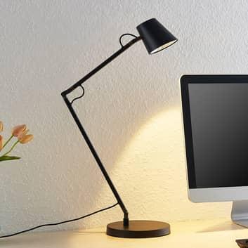 Lucande Tarris LED-Schrebtischlampe, schwarz