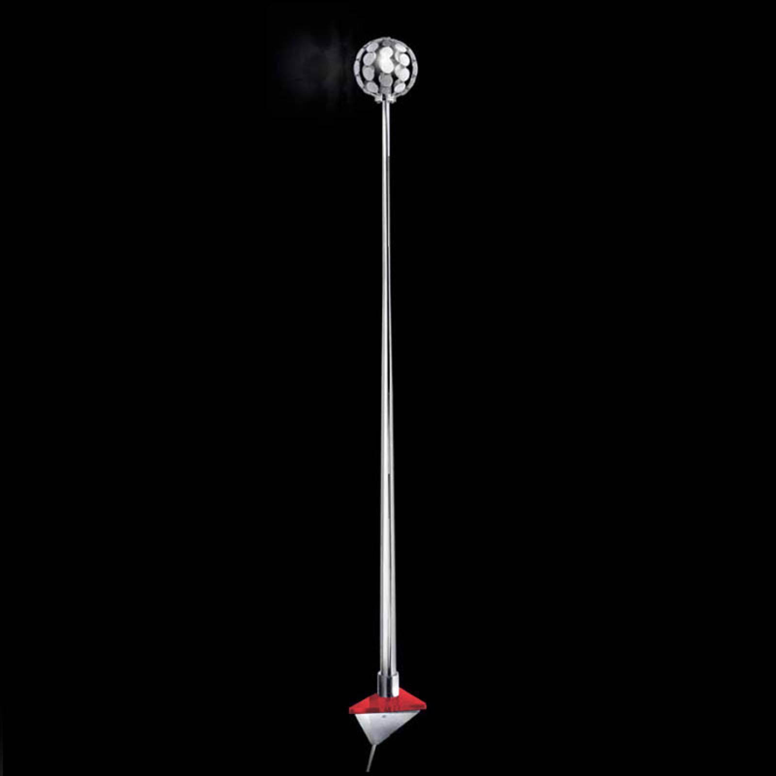 Wandleuchte Sfera, Halterung rot, 151 cm
