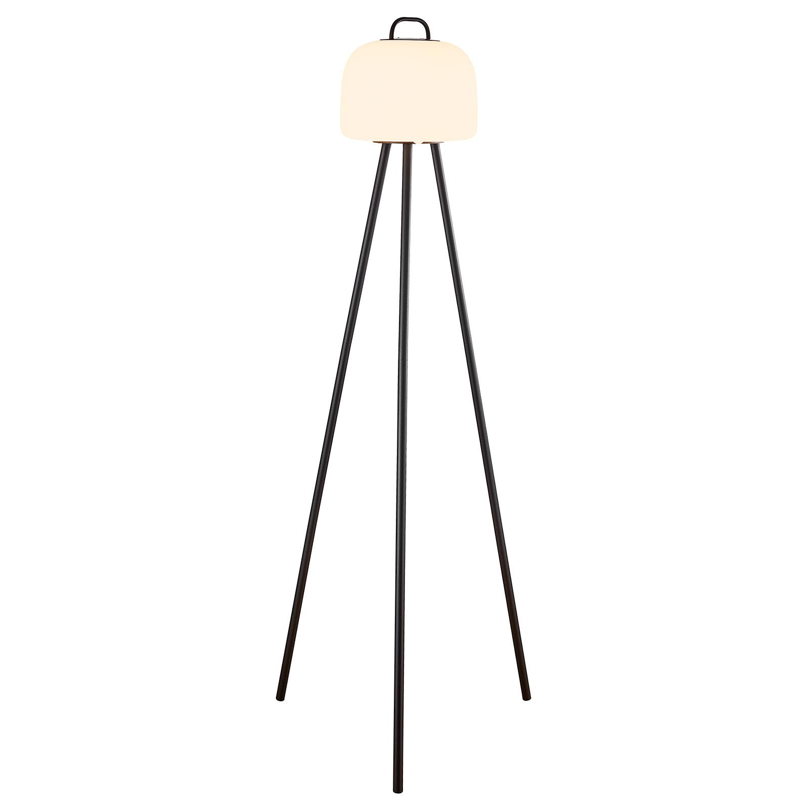Lampada LED terra Kettle treppiede metallo, 22cm