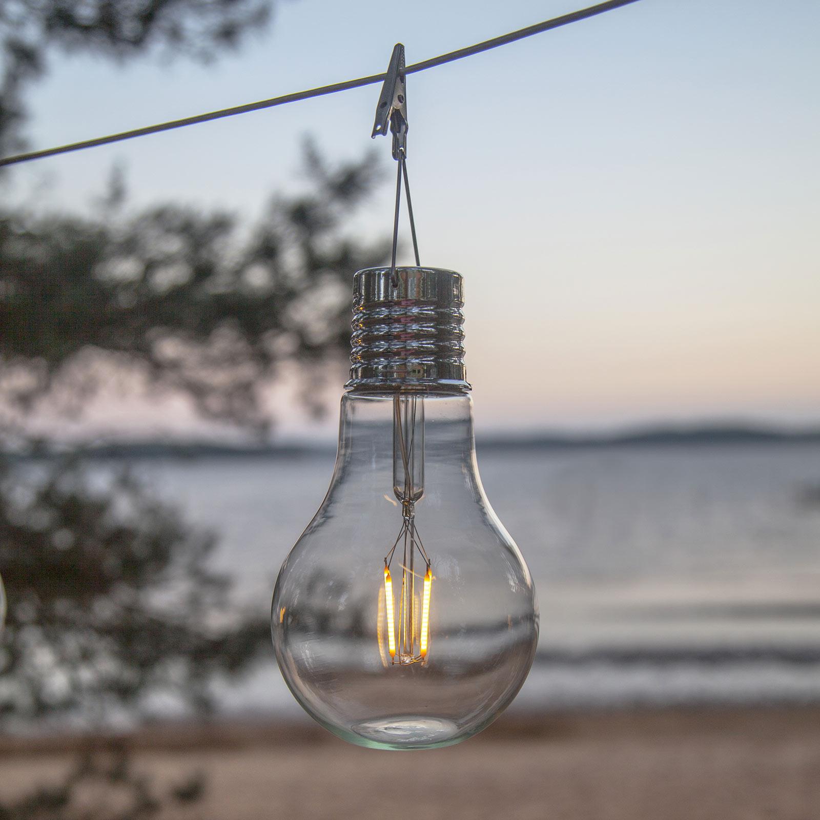 Lampada LED solare Fille, lampada decorativa