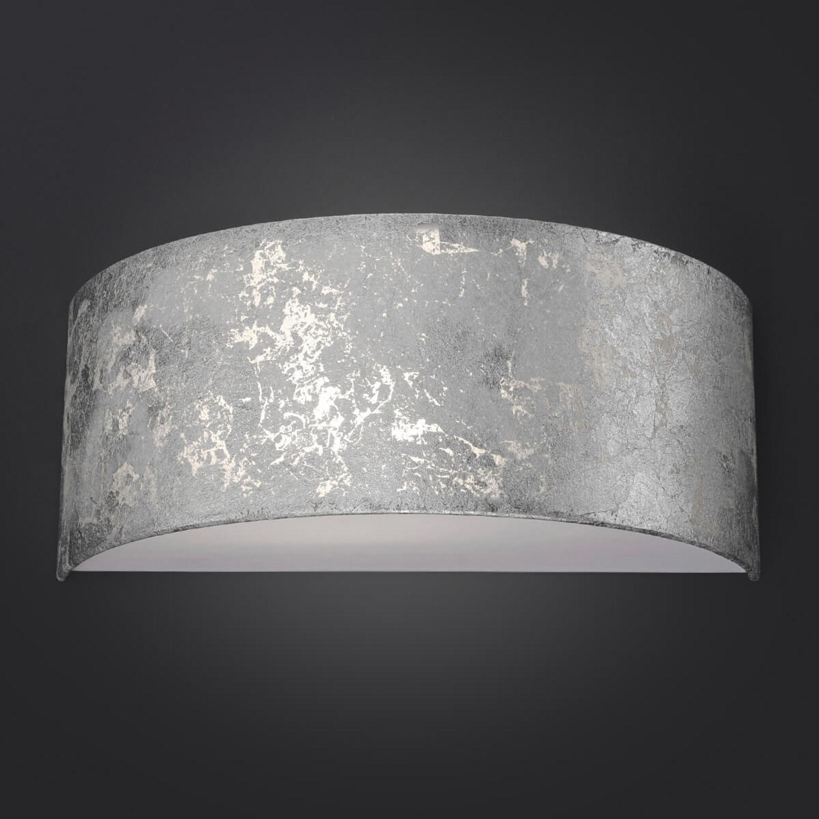 LED wandlamp Alea met bladzilver dimbaar