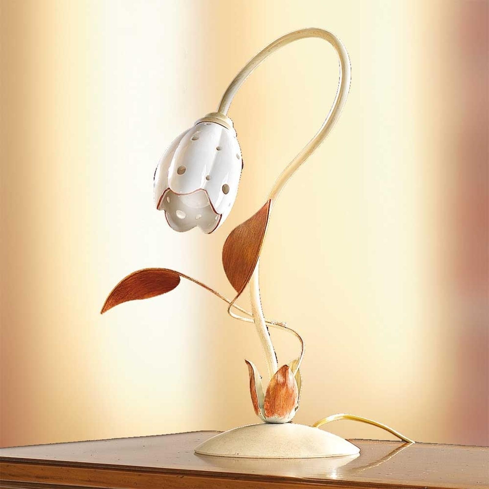 Floral bordlampe TULIPANO
