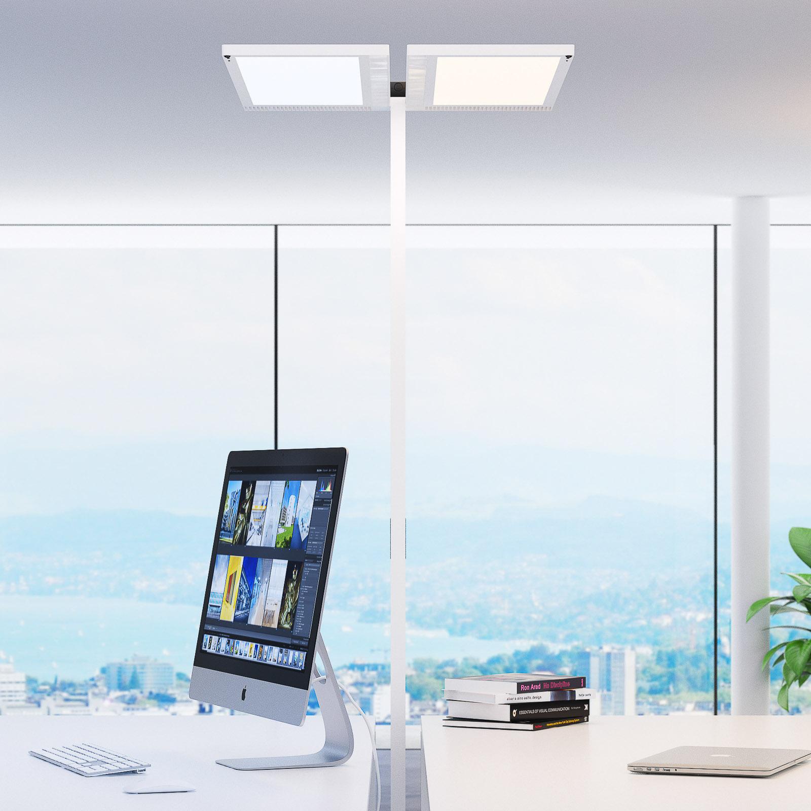 Regent Lighting Lightpad LED 2fl Fuß Mitte weiß