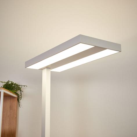 Logan - weiße LED-Büro-Stehleuchte, Dimmer 4.000K