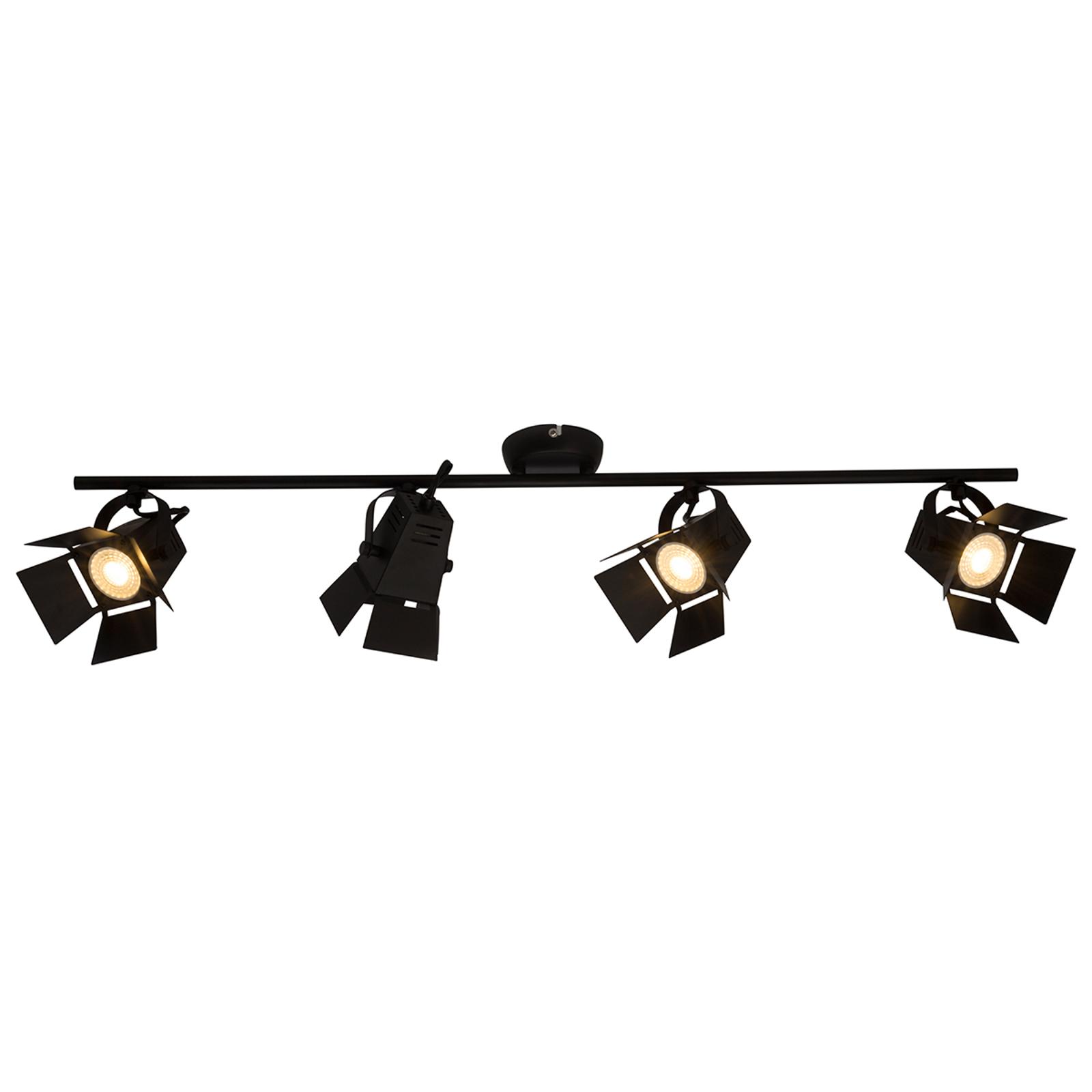 Lámpara LED de techo Movie moderna con foco negra
