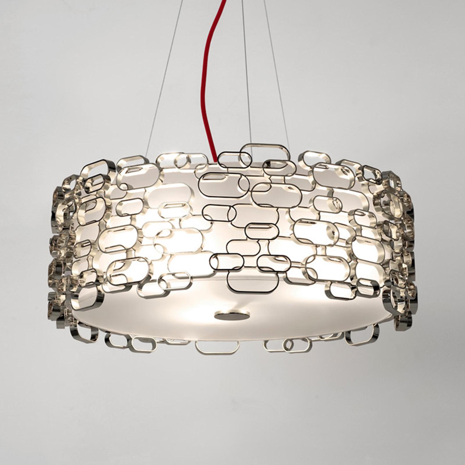 Glamour - lampa wisząca w kolorze srebrnym