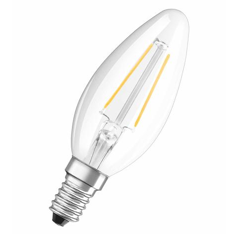 E14 1,6W 827 LED-kronepære, klar