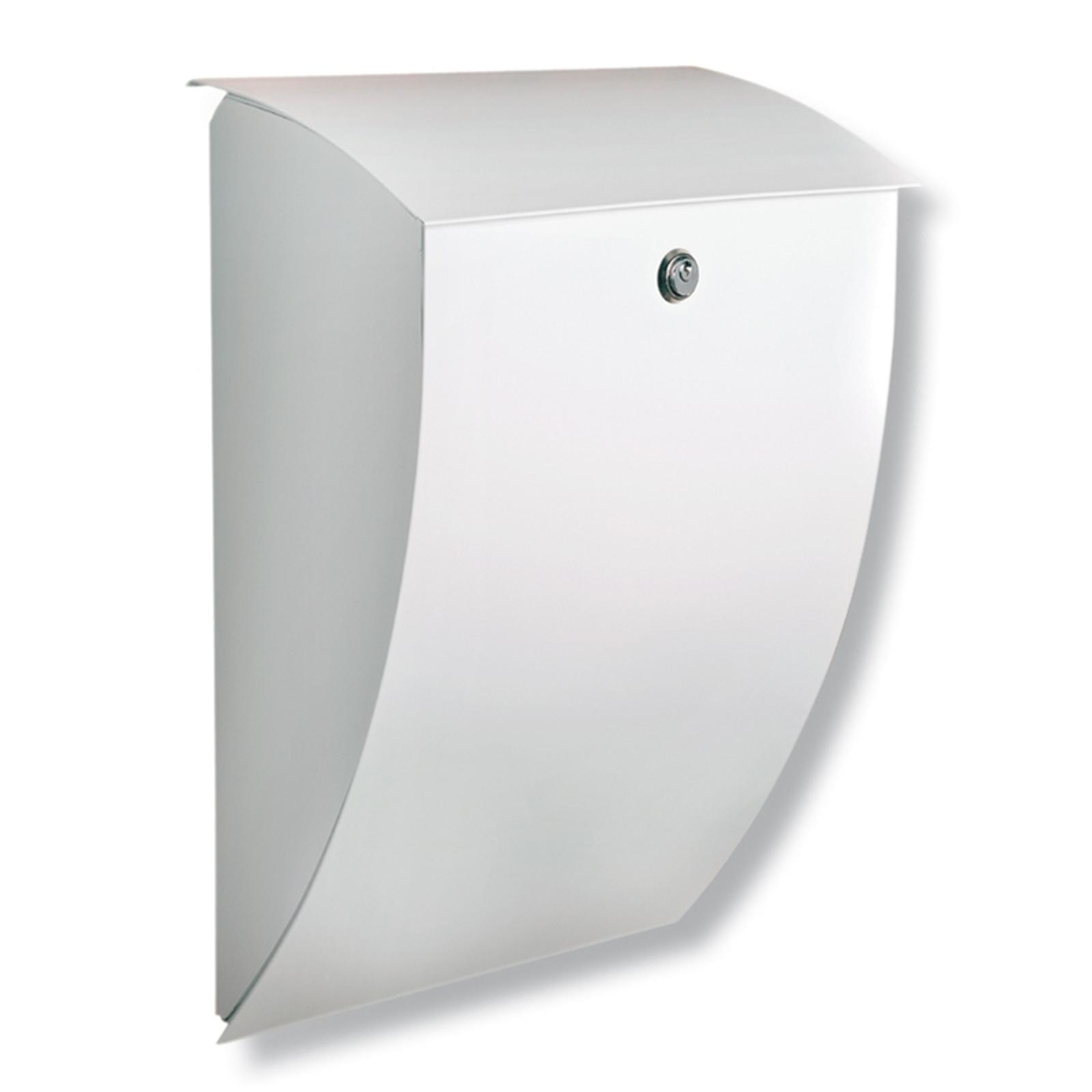 Milano galvanised letter box in white_1532058_1