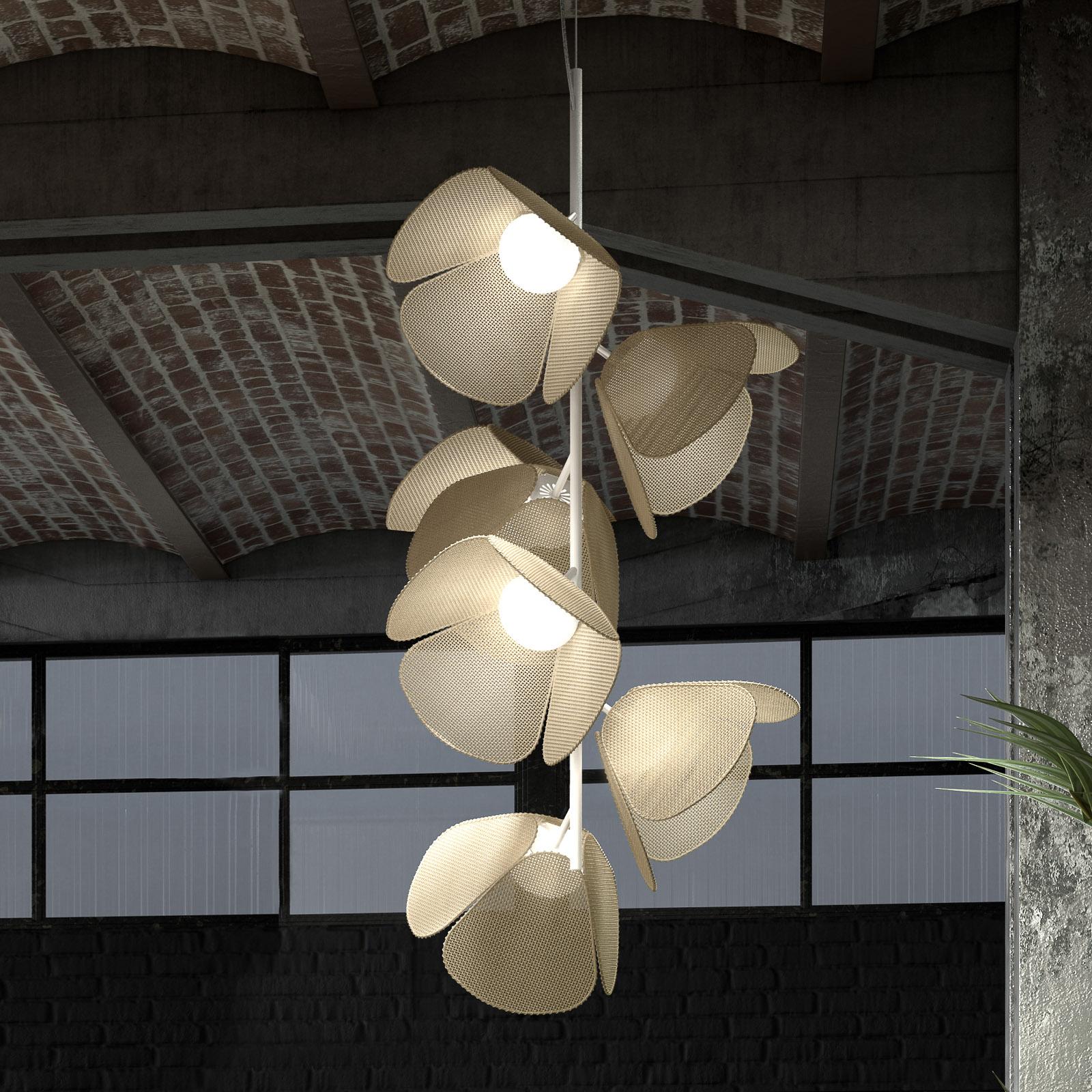 Bover Mod PF/73/6L LED plafondlamp, natuurvezel