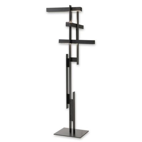 Oluce Lase - lampa stojąca LED w matowej czerni