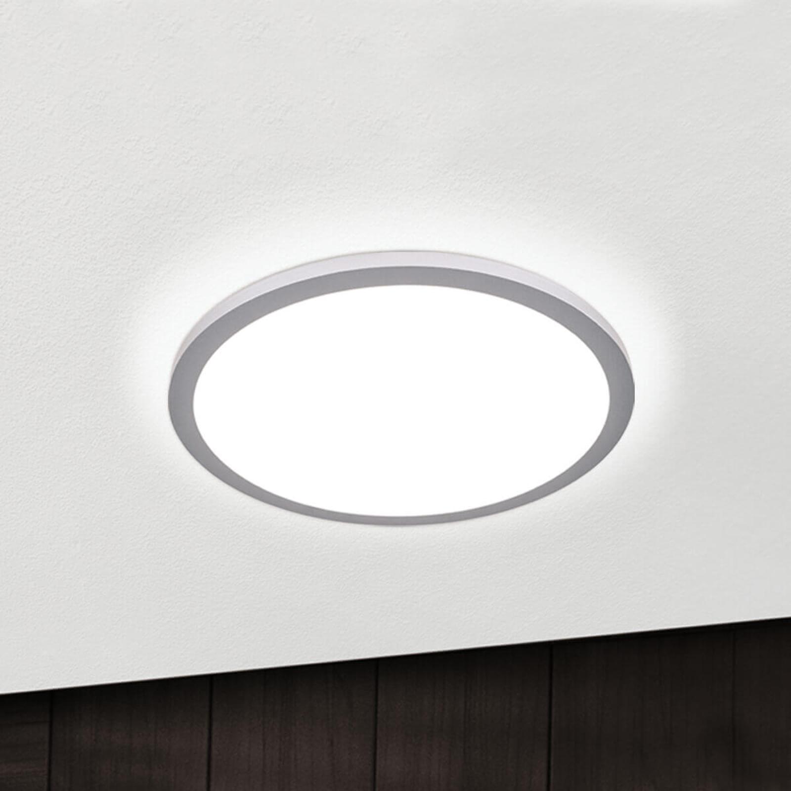 Titanfarbene LED-Deckenlampe Aria, dimmbar - 40 cm