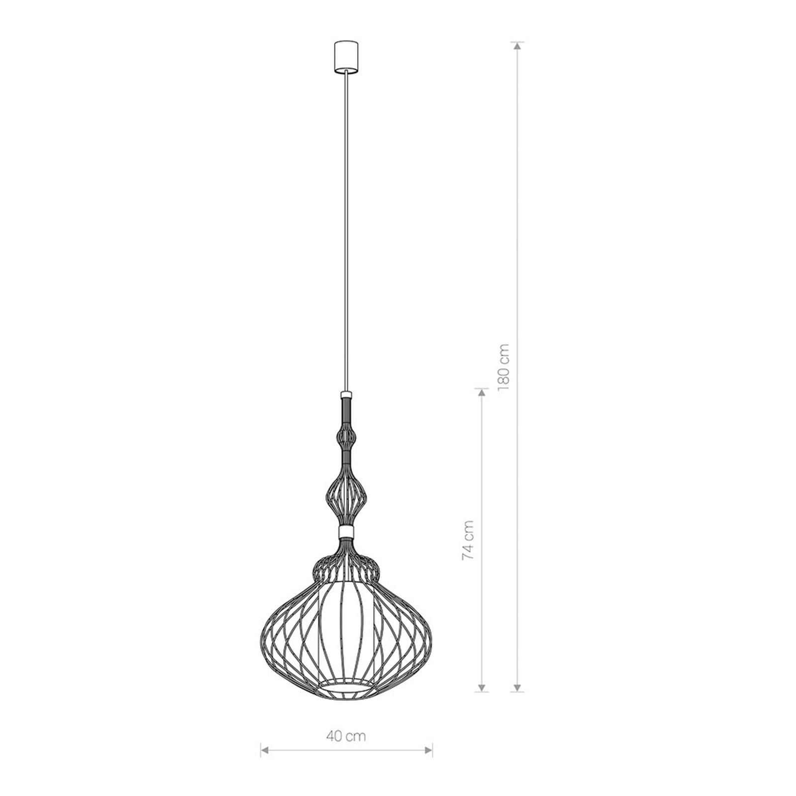 Lampa wisząca Abi M z podwójnym kloszem, czarna