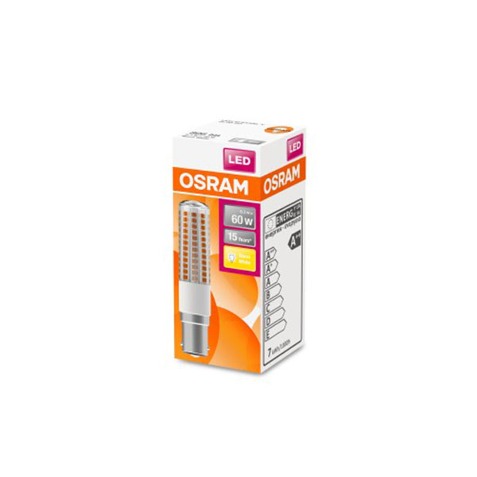 OSRAM LED-Lampe Special T B15d 6,3W 320° 2.700K