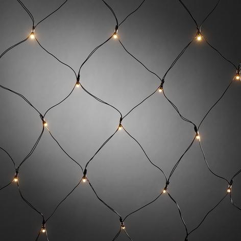 Voor buiten - LED-lichtnet met timer 40-lichts ww
