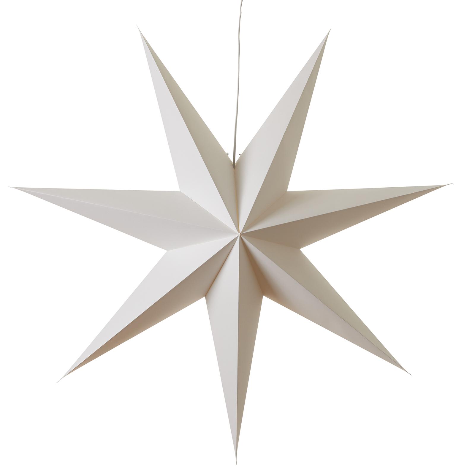 Syvtakket papirstjernen Duva, 100 cm