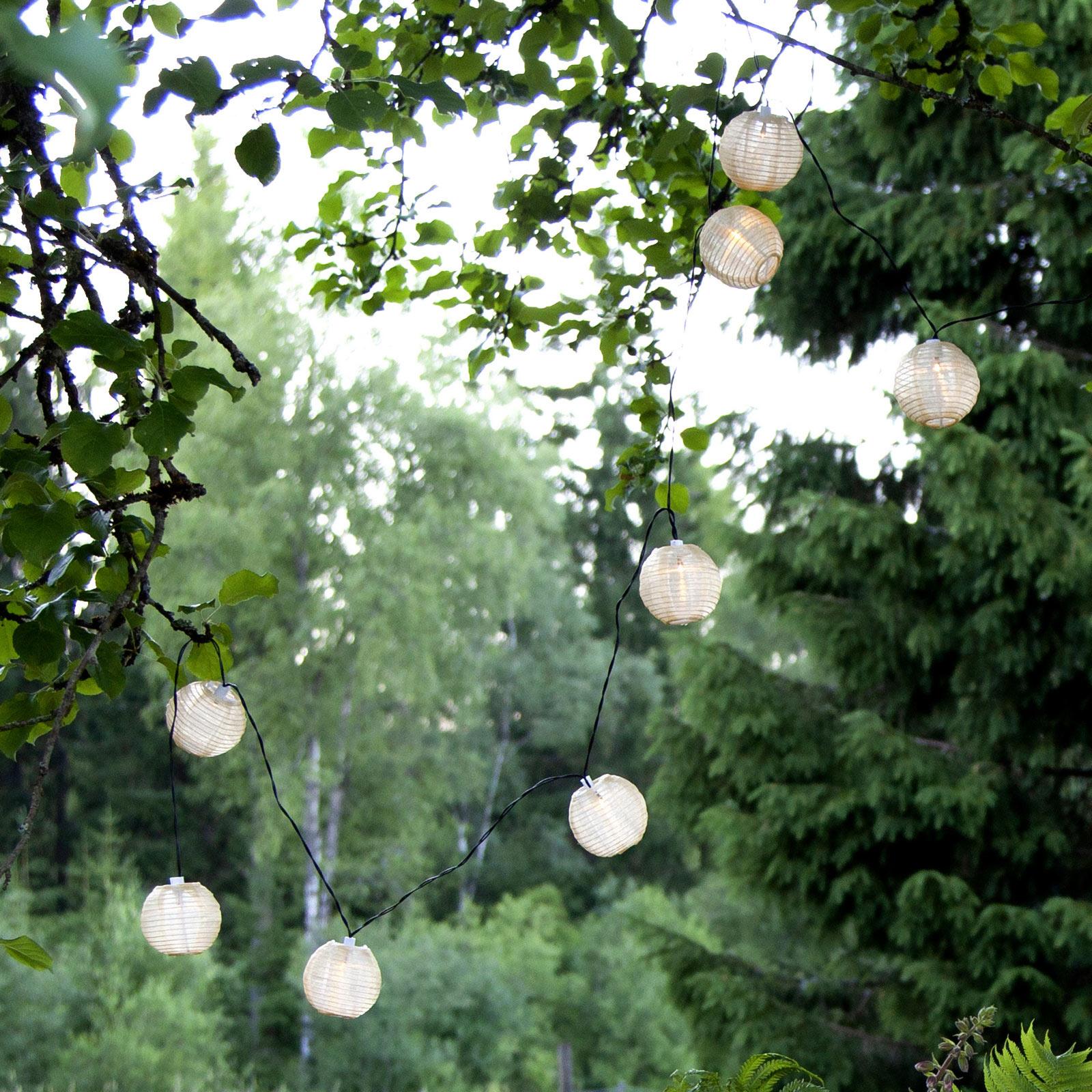 Aurinkokäyttöinen Festival-LED-valaisin, valoketju