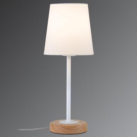 Lámpara de mesa textil de diseño natural Stellan