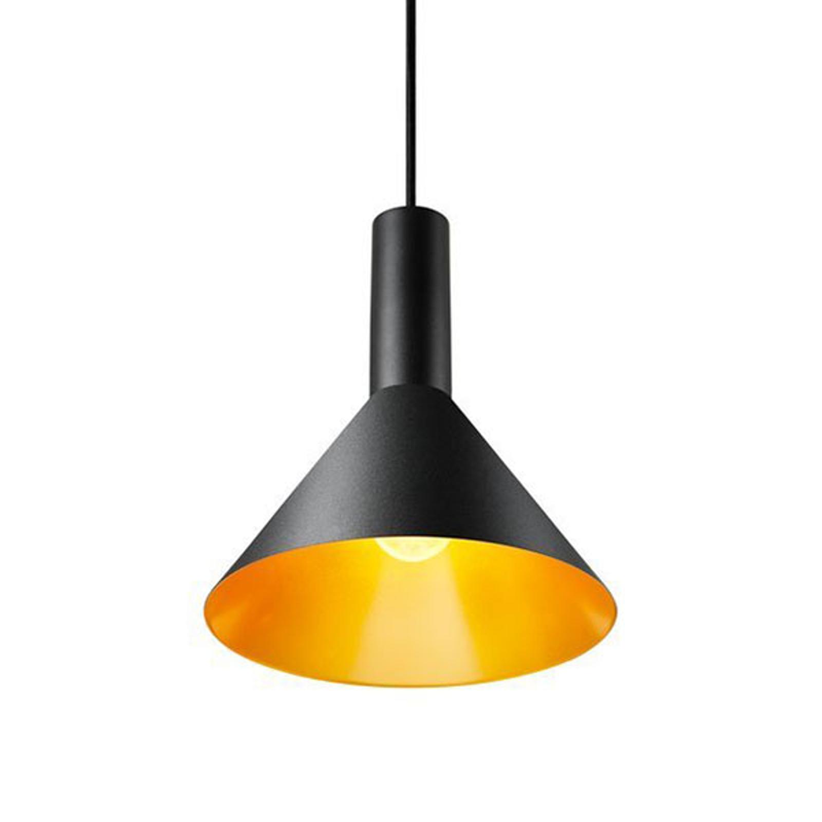 SLV Phelia suspension noire/dorée, Ø 27,5cm
