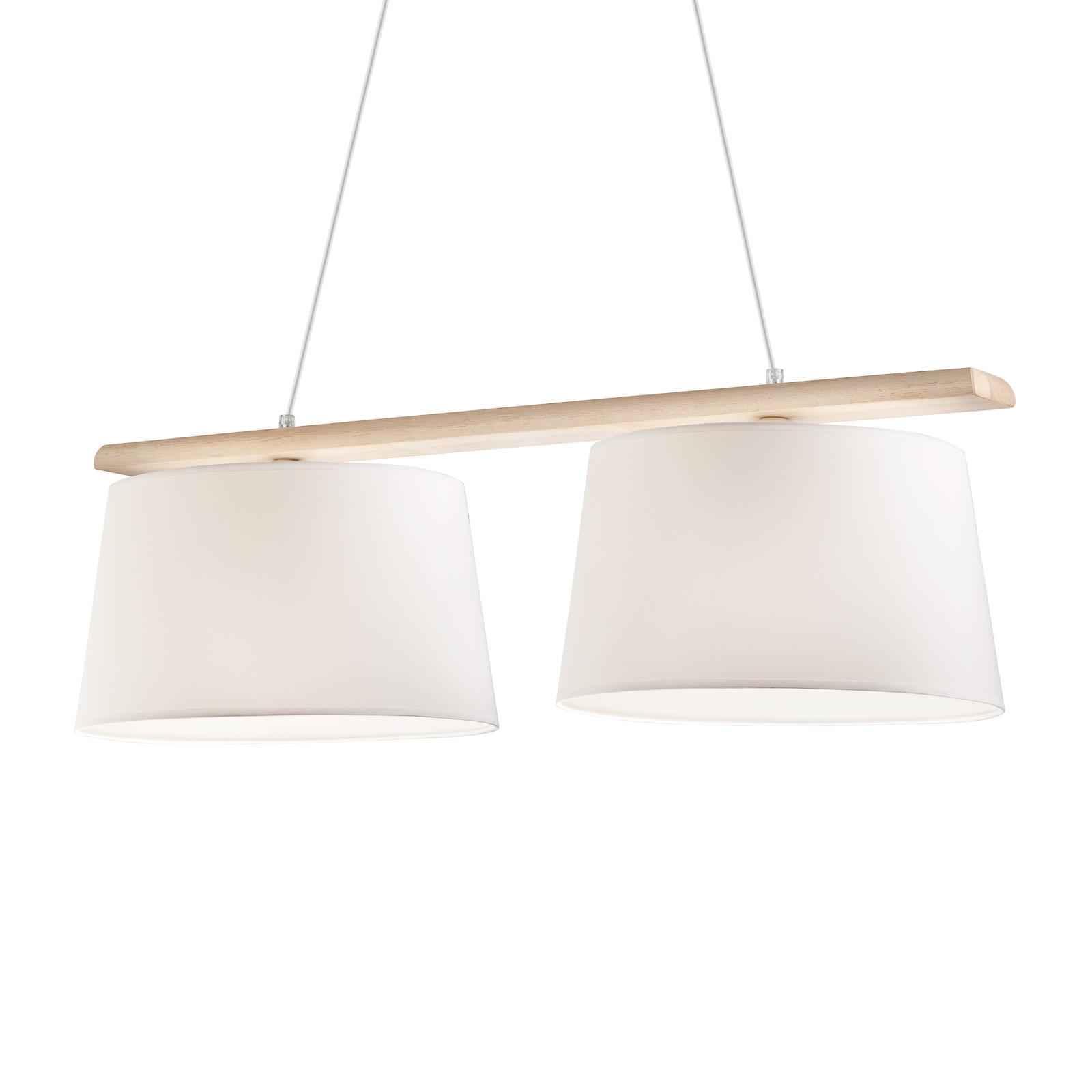 Lampa wisząca Sweden, 2-punktowa, antyczna biel