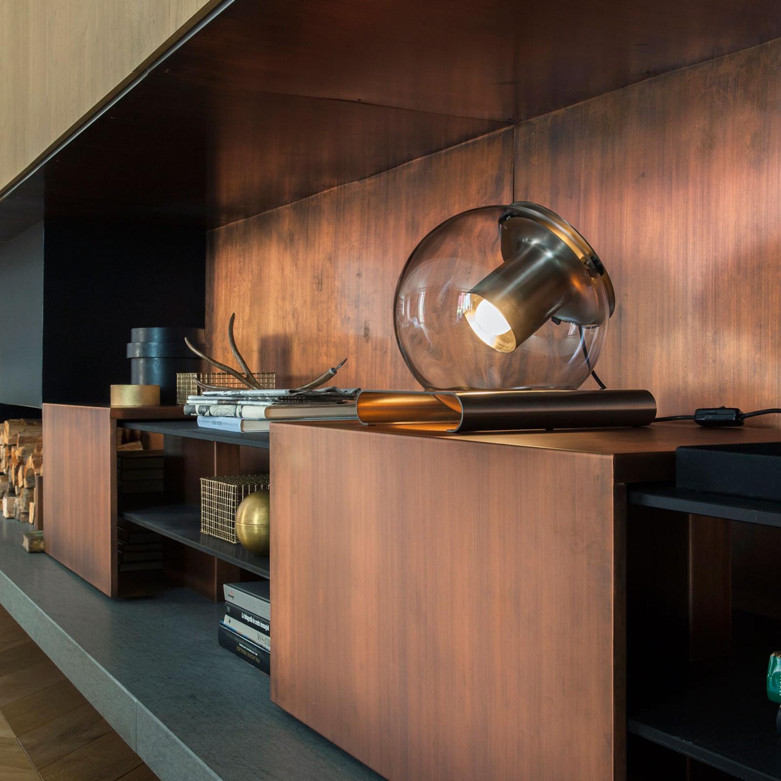 Acquista Lampada Da Tavolo Di Design The Globe In Vetro Lampade It