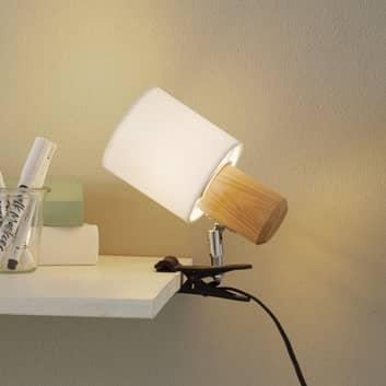 Lámpara de pinza Clampspots, pantalla blanca