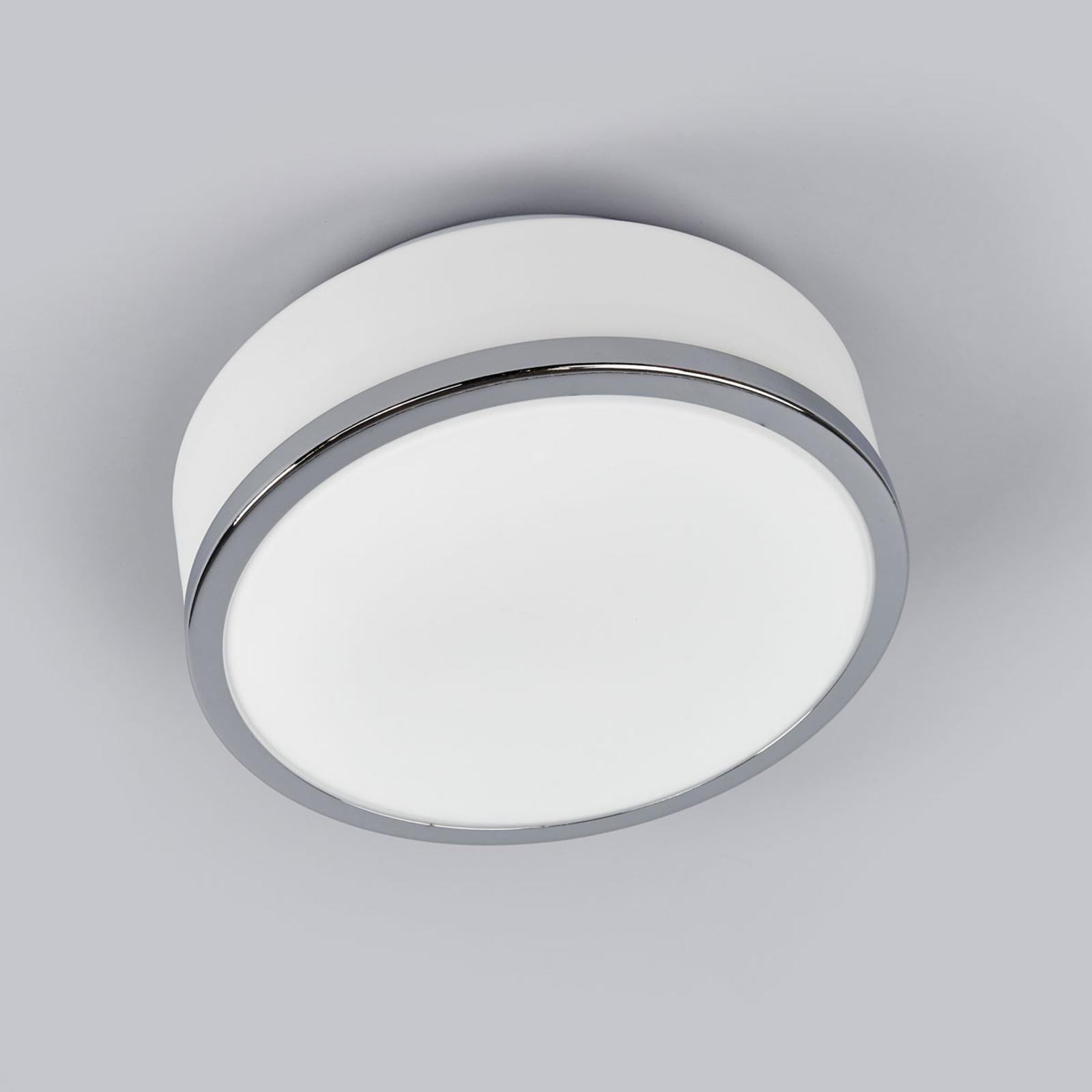 Deckenleuchte Flush IP44, Ø 23cm, chrom