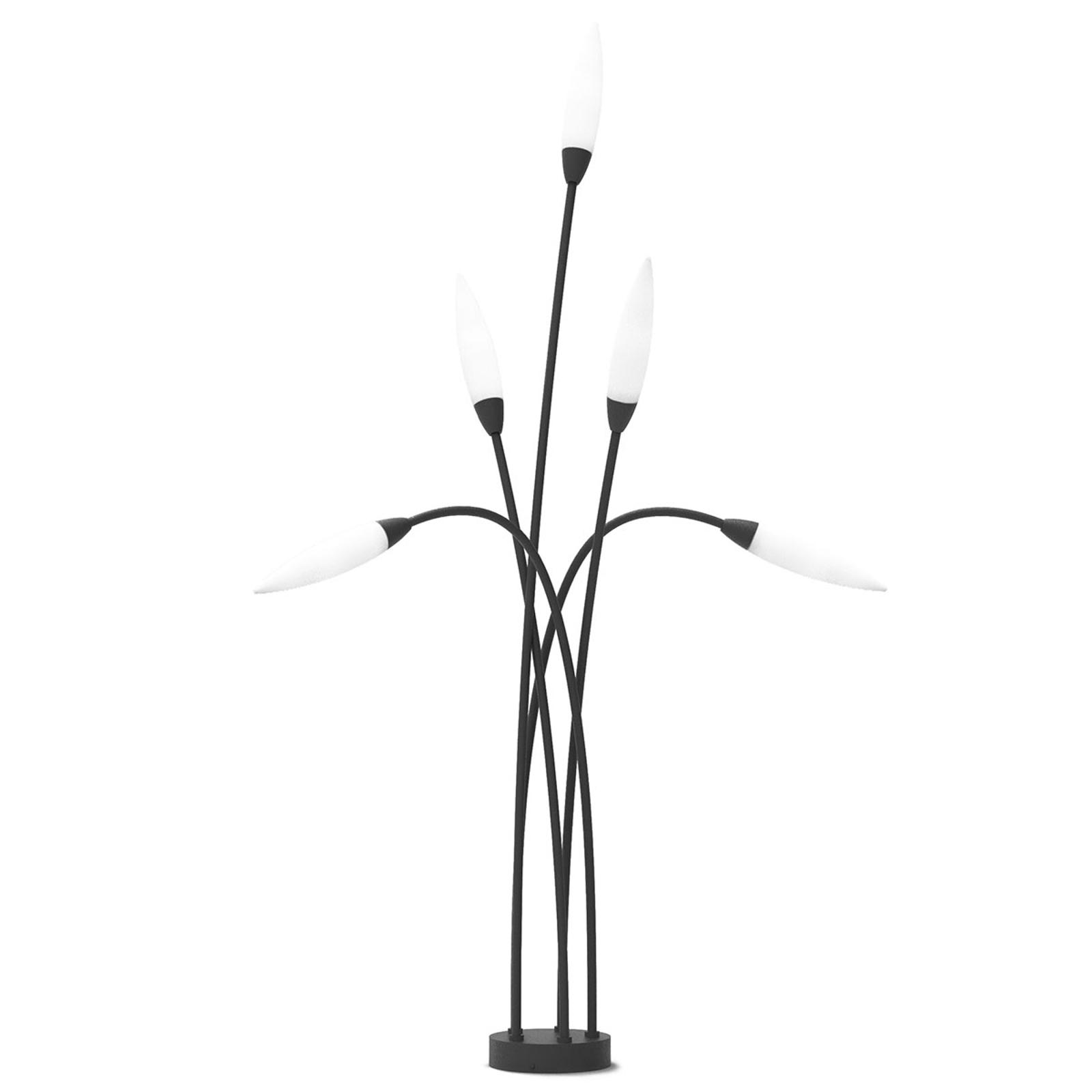 Tuinpadverlichting Espiga voor de buiten, 5lamps
