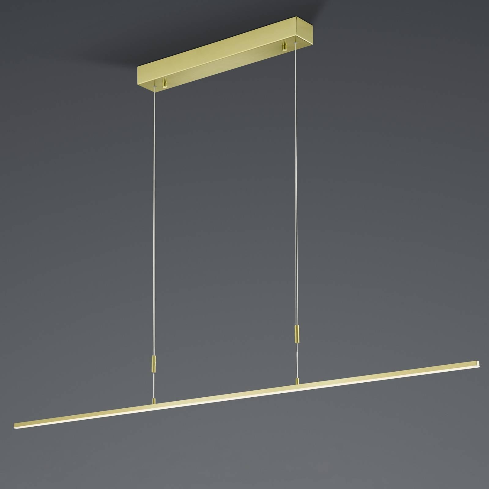 BANKAMP Slim hanglamp ZigBee dimbaar 128cm messing