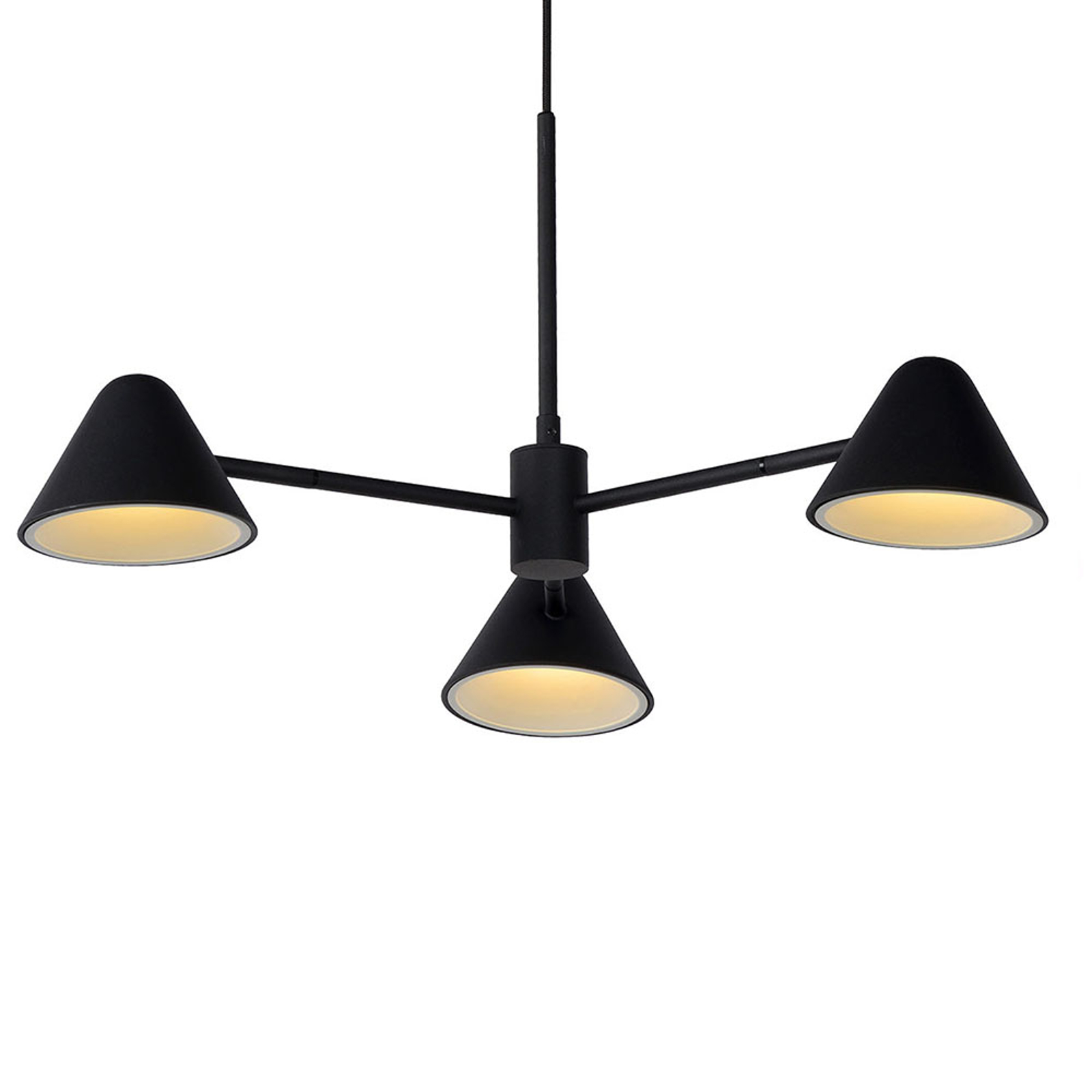 Suspension LED Devon, noire