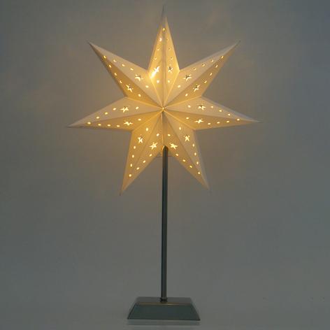 Stella a LED in carta a sette punte Whitemas