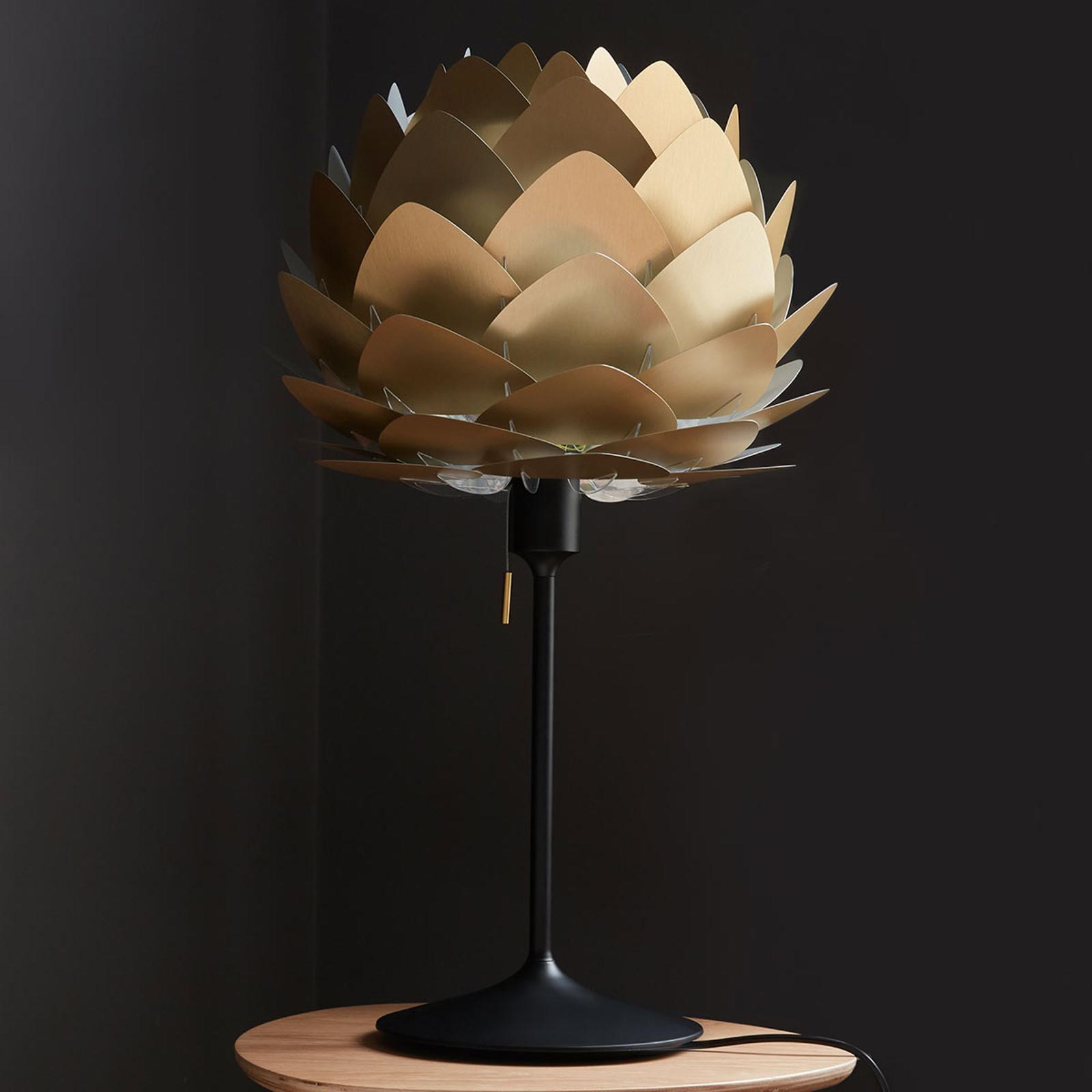 UMAGE Aluvia mini lampa stołowa mosiądz/czarny