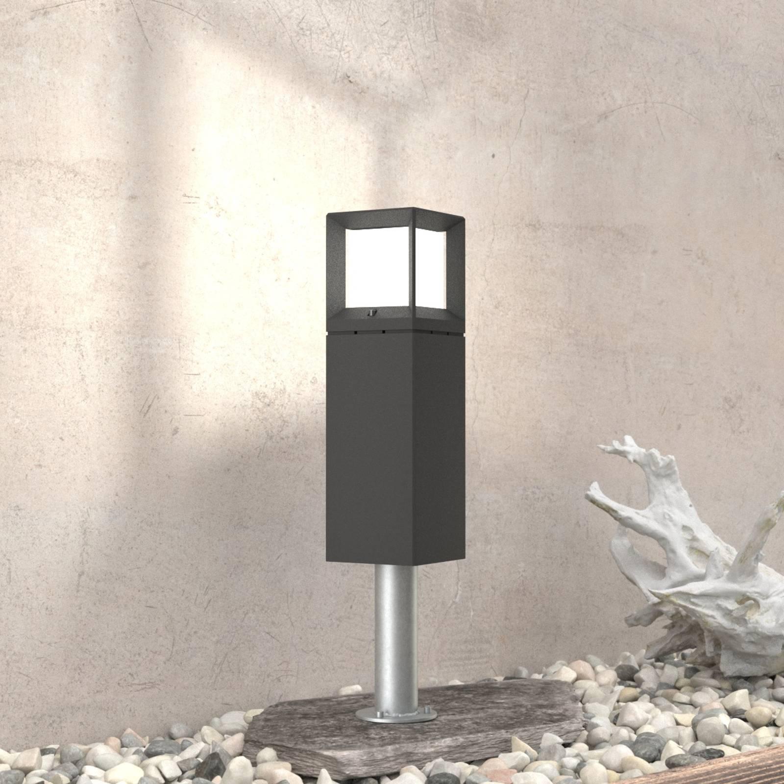 BEGA 84604 - LED-Sockelleuchte in Grafit, 3.000 K