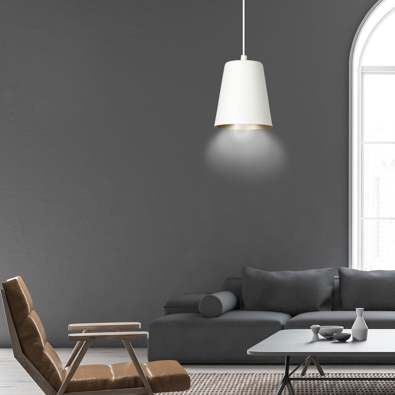 Hanglamp Milagro, 1-lamp, wit/goud