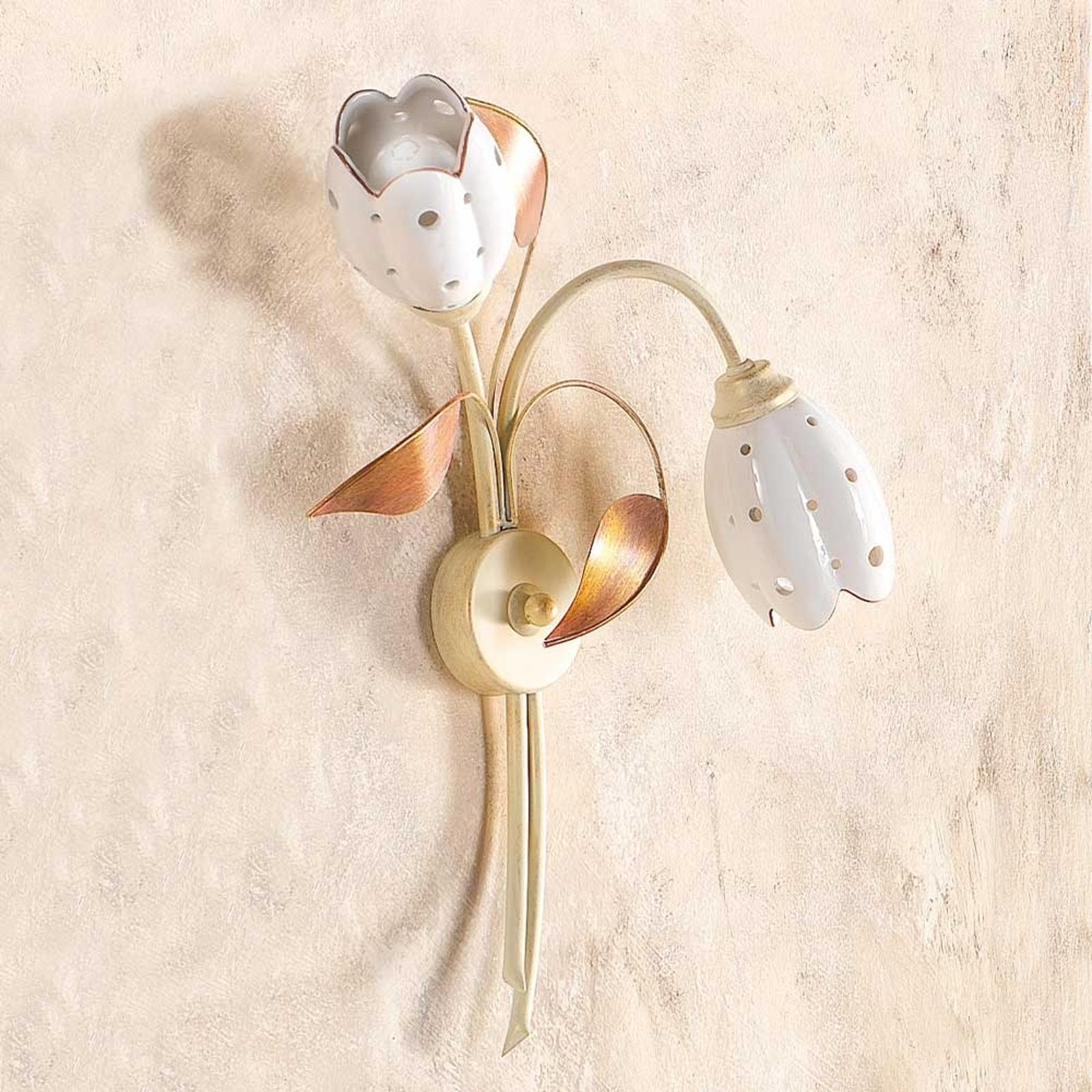 Floral væglampe TULIPANO, med 2 lyskilder