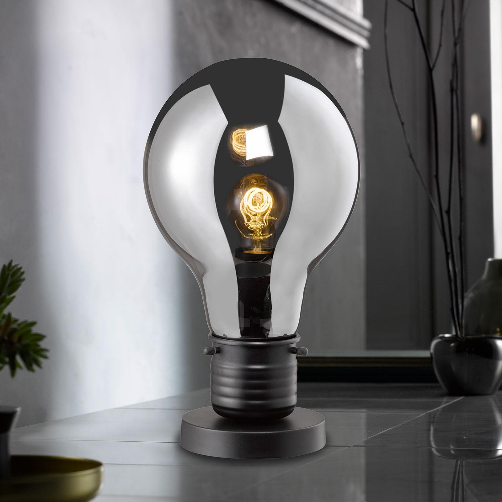 Tafellamp Louis met getinte glazen kap, 37 cm