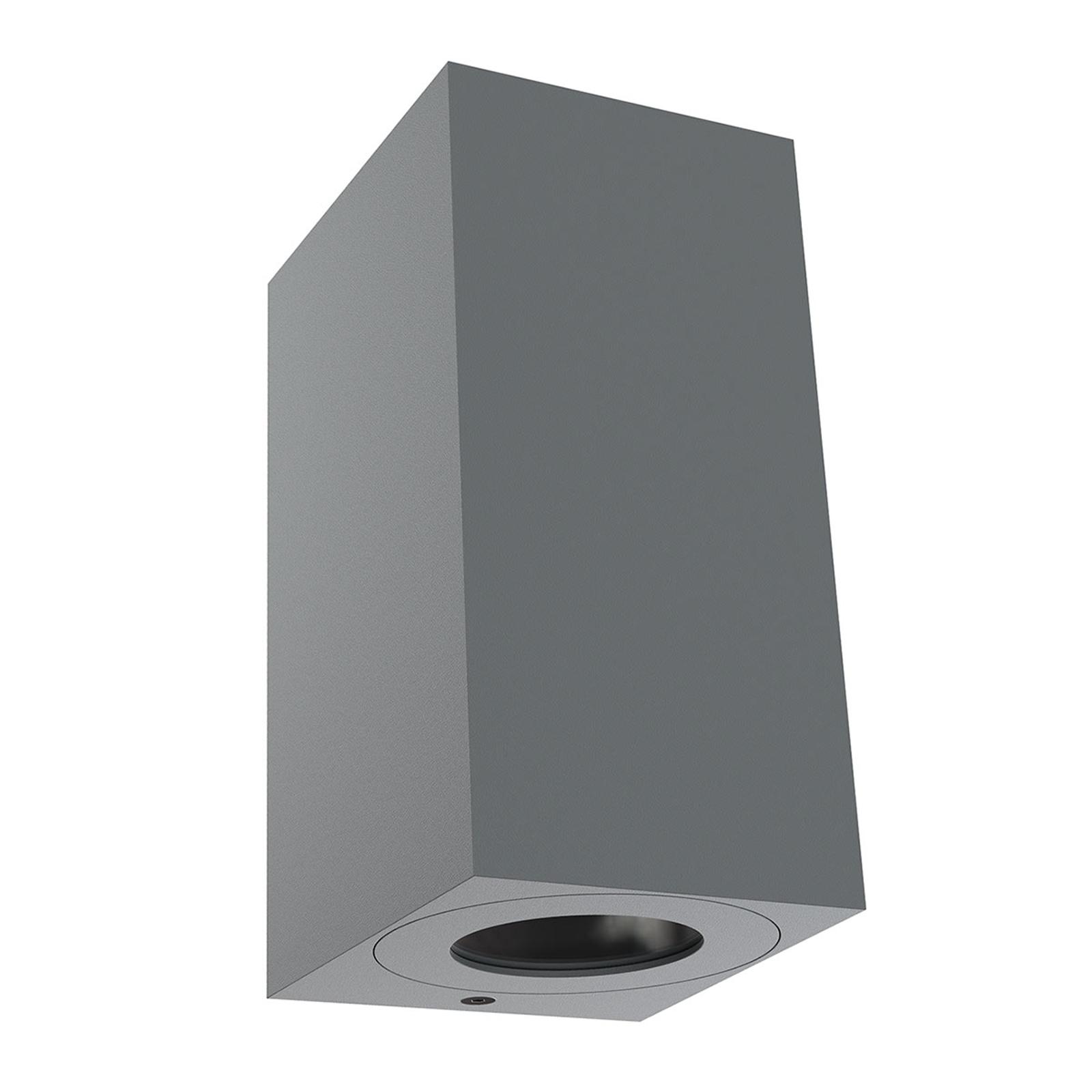 Utendørs vegglampe Canto Maxi Kubi 2, 17 cm, grå