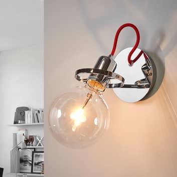 Radio designer-væglampe i krom