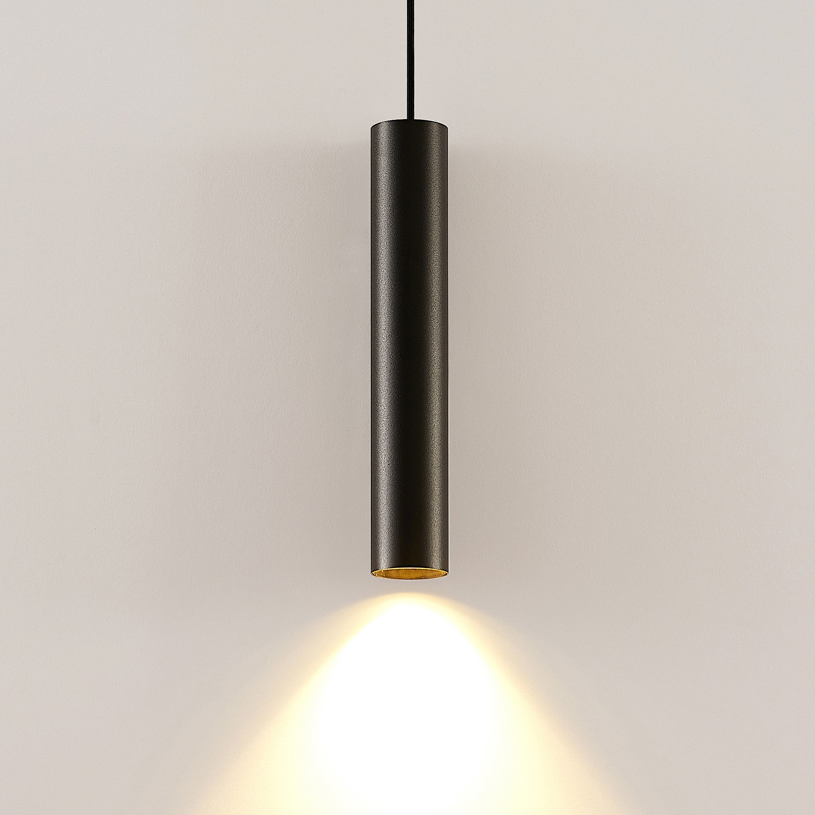 Arcchio Ejona hanglamp, hoogte 35 cm, zwart