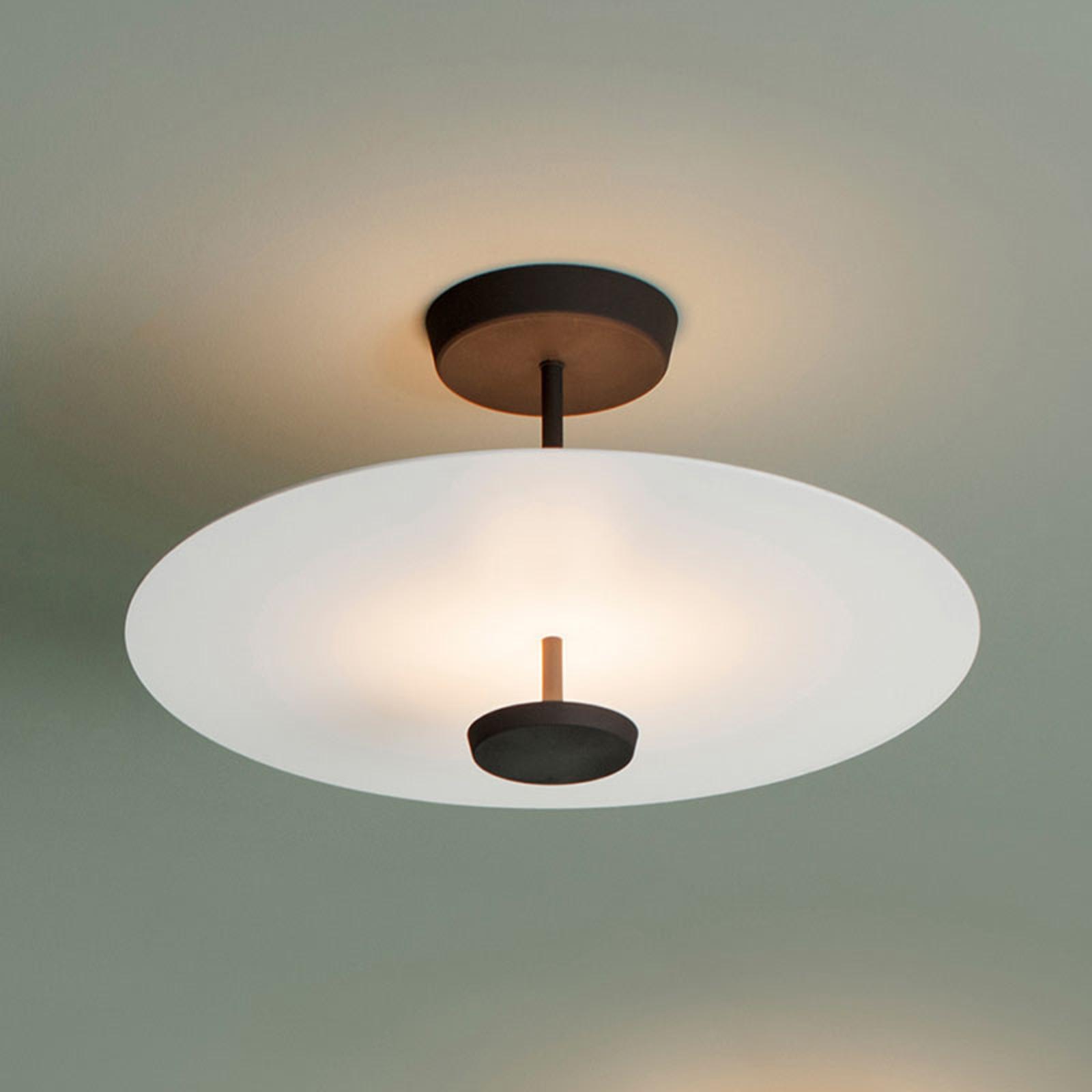 Vibia Flat LED-loftlampe, 2 lyskilder Ø 55 cm hvid